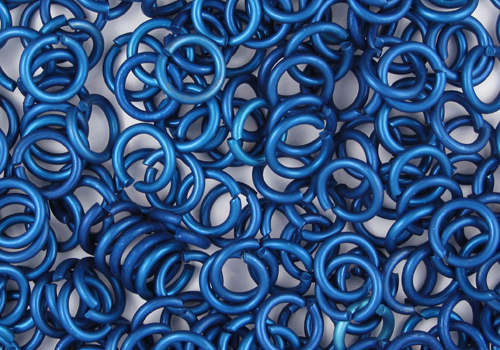 Blue anodized aluminium rings from TheRinglord.com